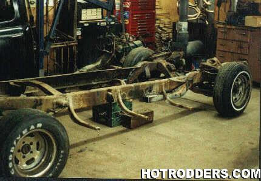 49 chevy truck Chassis swap 80 Camaro questions - Hot Rod Forum
