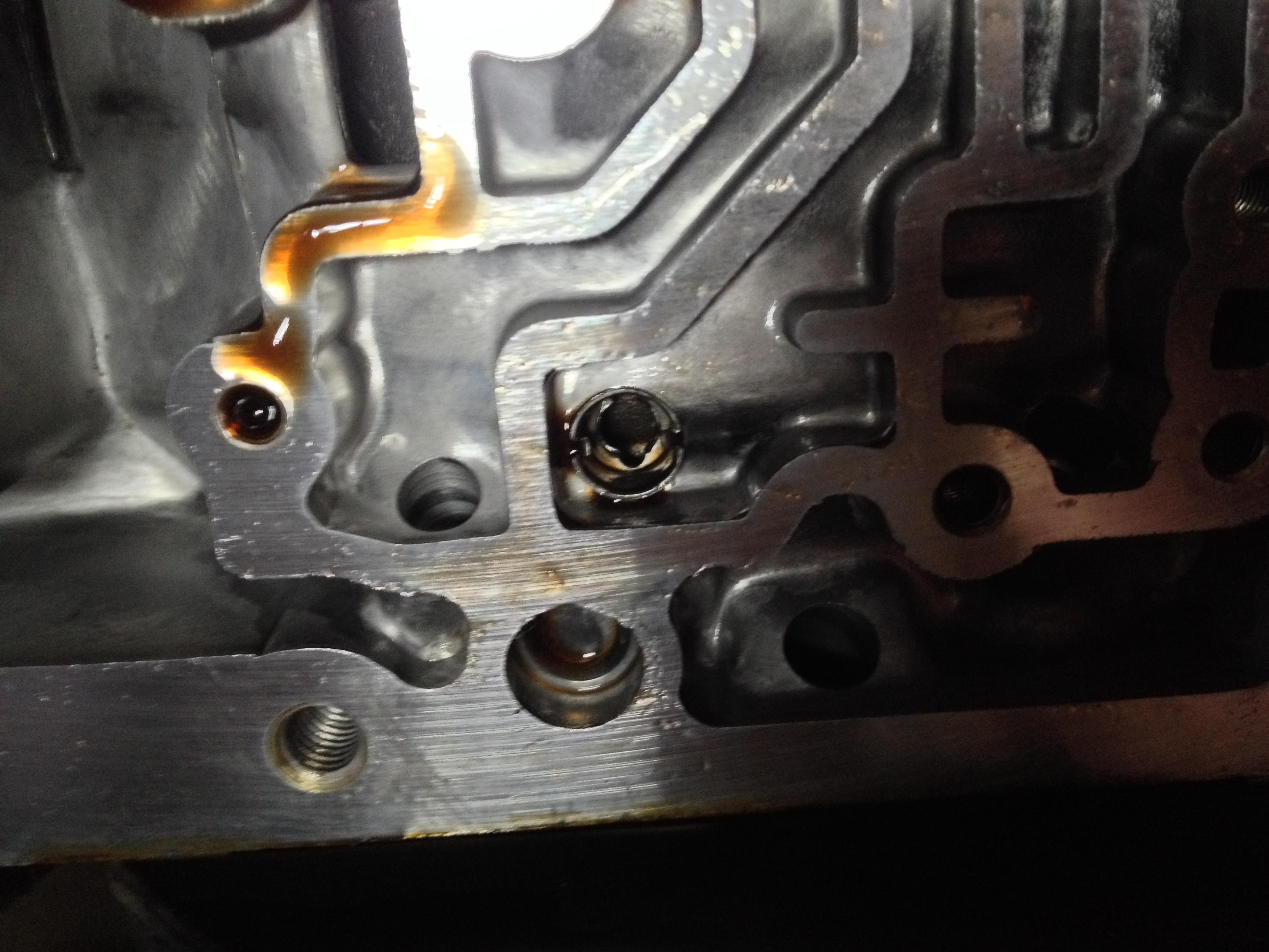 4L60E - broken 3-4 accum  spring & check ball question - Hot