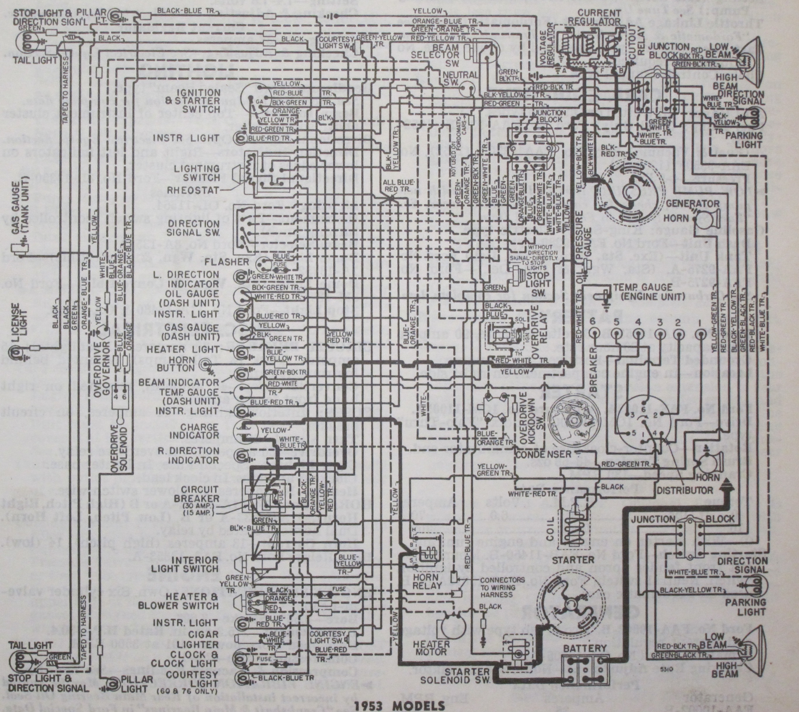 1952 Ford Customline Wiring Diagram Diagrams 54 Chevy Truck Harness 1953 Free Download 1951 Schematic F1