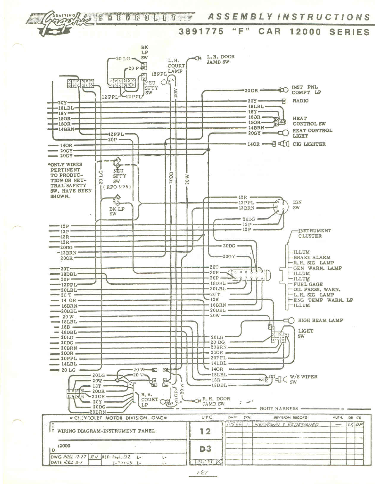67 Camaro Fuse Box Wiring Diagram Tachometer Console On Engine