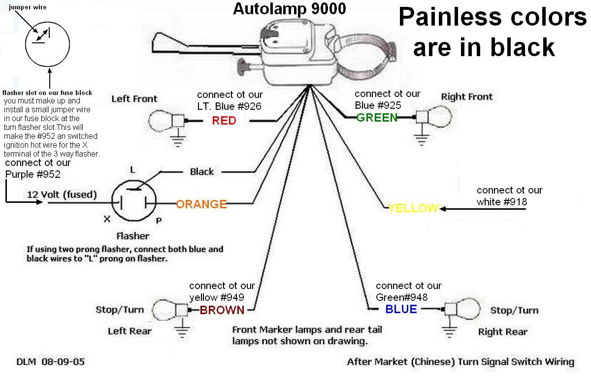 4 Wire Turn Signal Switch Wiring Diagram