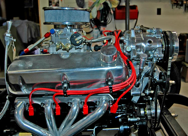 Running the plug wires under the headers   Hot Rod Forum   Chevy 350 Plug Wire Diagram      Hotrodders.com