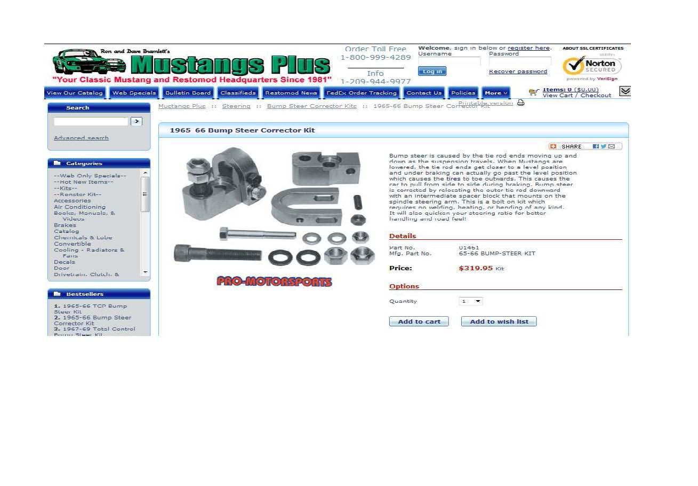 Click image for larger version  Name:Bump Steer Kit, Pro Motorsports, Mustang.jpg Views:211 Size:100.2 KB ID:66845
