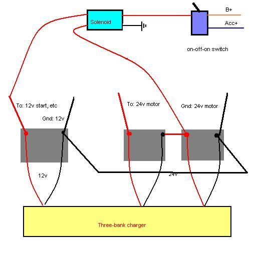 Wiring Diagram Database  How To Jump Start 24v From 12v