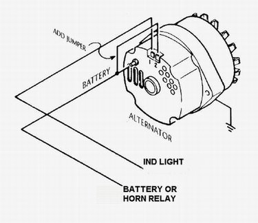 Wire       Alternator    Idiot Light Hook Forumhotrodders   Circuit Schematic    Diagram
