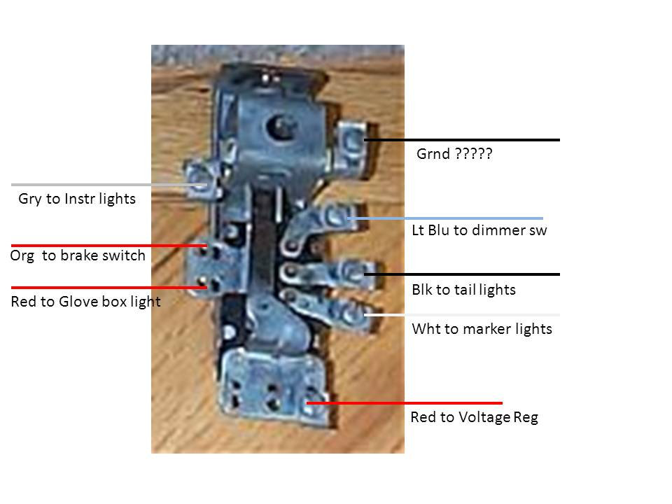 gm headlight switch circuit functions