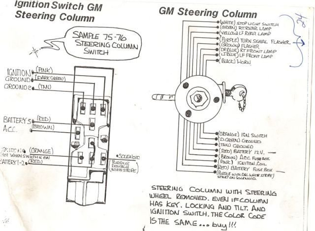 chevy ignition switch wiring help hot rod forum hotrodders click image for larger version gm steering column jpg views 78061 size
