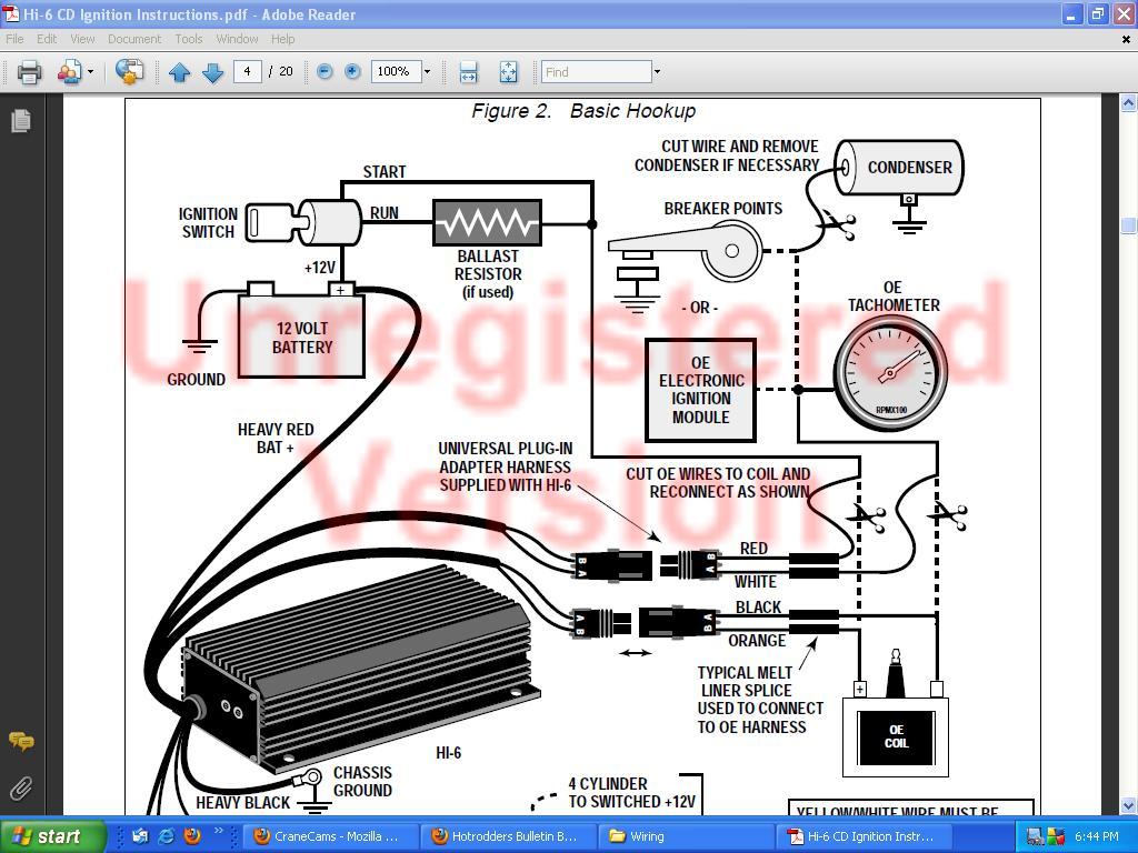 crane hi 6 ignition with a duraspark distributor hot rod forum hotrodders bulletin board. Black Bedroom Furniture Sets. Home Design Ideas