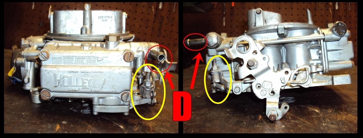 Holley 4160/600 CFM Carburetor: Components Identification
