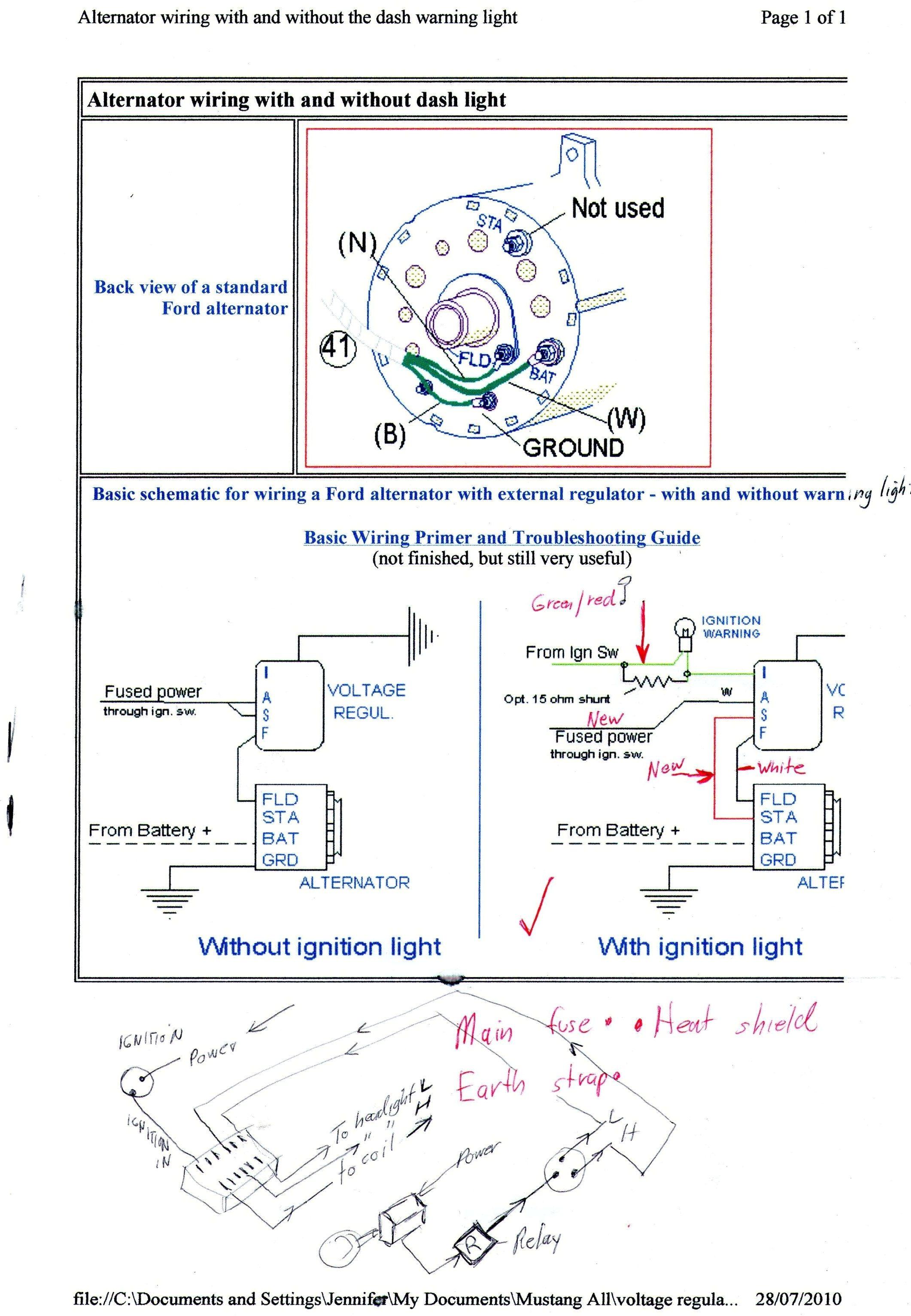 alternator warning light wiring diagram alternator warning light for 67 mustang hot rod forum  alternator warning light for 67 mustang