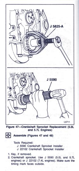 How do I remove the timing chain on a 350? - Hot Rod Forum