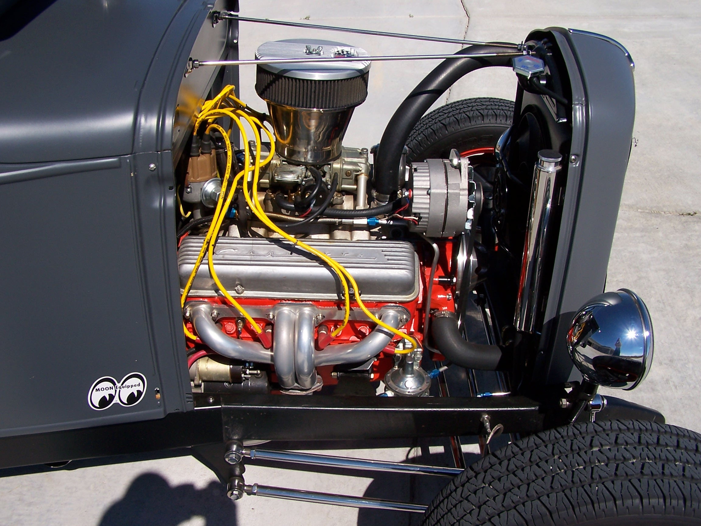 Click image for larger version  Name:Model A 350 Engine Sep 2004.JPG Views:134 Size:1.61 MB ID:48842