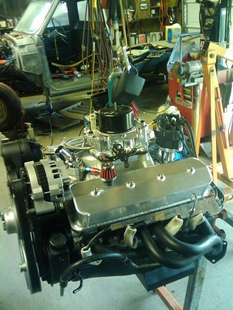 Click image for larger version  Name:Motor finished on stand.jpg Views:59 Size:82.3 KB ID:39741