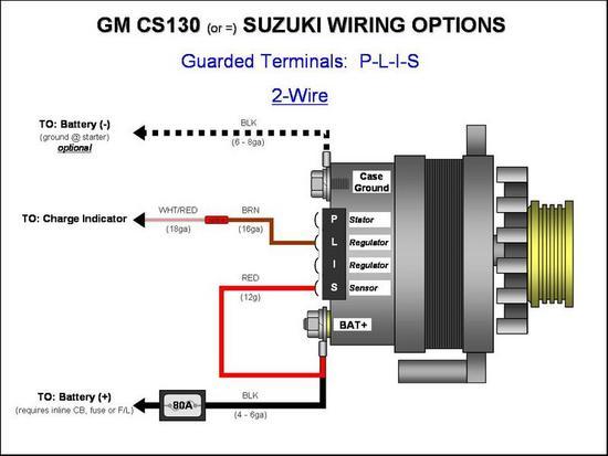 4 G Gm Alternator Questions Hot, 2 Wire Alternator Wiring Diagram