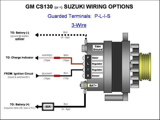 3 Wire Simple Alternator Wiring Diagram from www.hotrodders.com