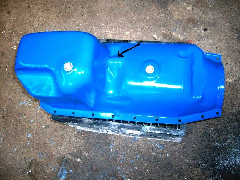 Click image for larger version  Name:Oil pan mod Arrow.JPG Views:116 Size:95.3 KB ID:42213