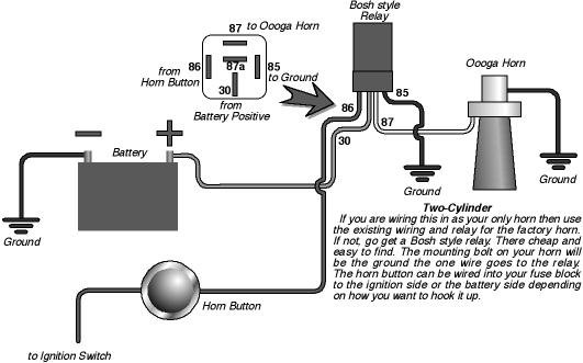 Push Button Horn Wiring Diagram from www.hotrodders.com