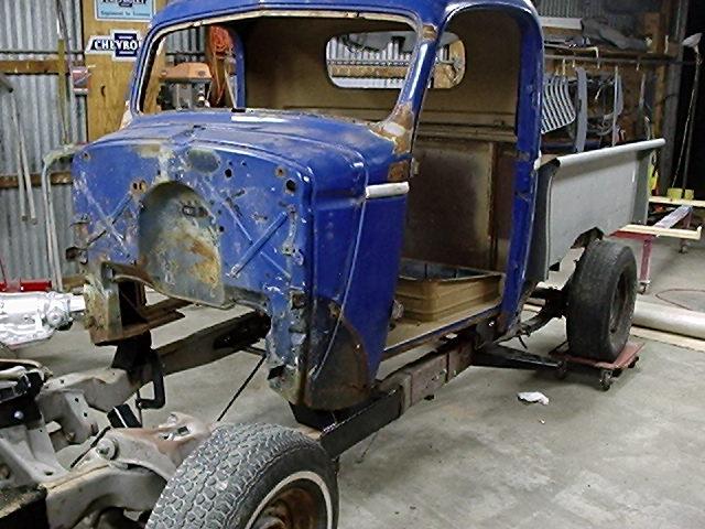 1946 Chevy Truck Rat Rod On S10 Frame