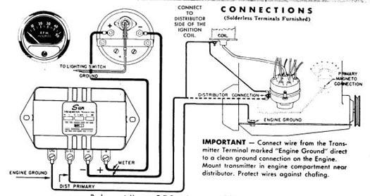 Sun Tach Hot Rod Forum, Sun Super Tach 2 Wiring Diagram