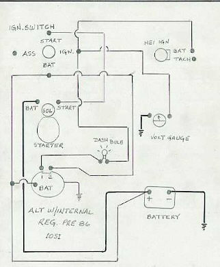 327 Chevy Alternator Wiring Diagram - Wiring Diagrams on