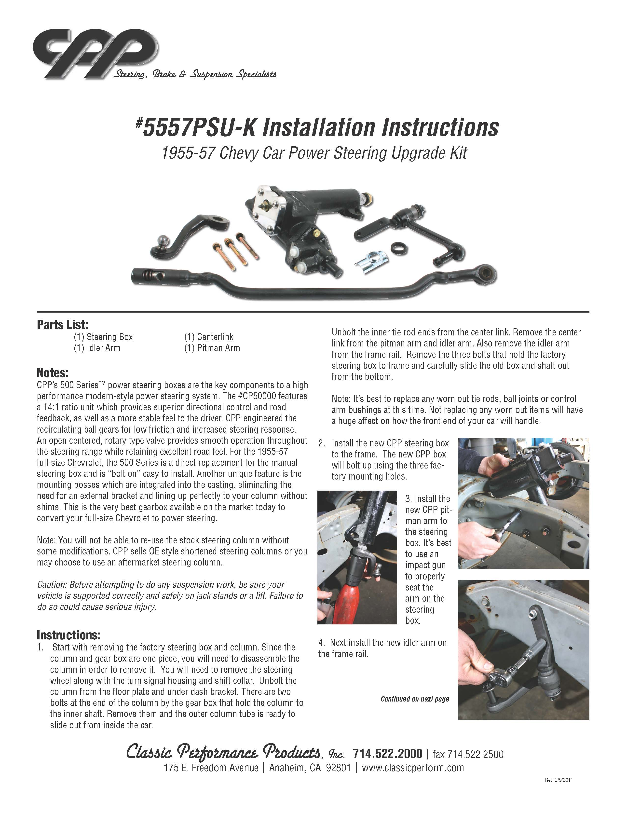 Click image for larger version  Name:Steer gearbox, install instruc pg 1 500 model CPP 5557PSU-K_Page_1.jpg Views:177 Size:620.8 KB ID:69796