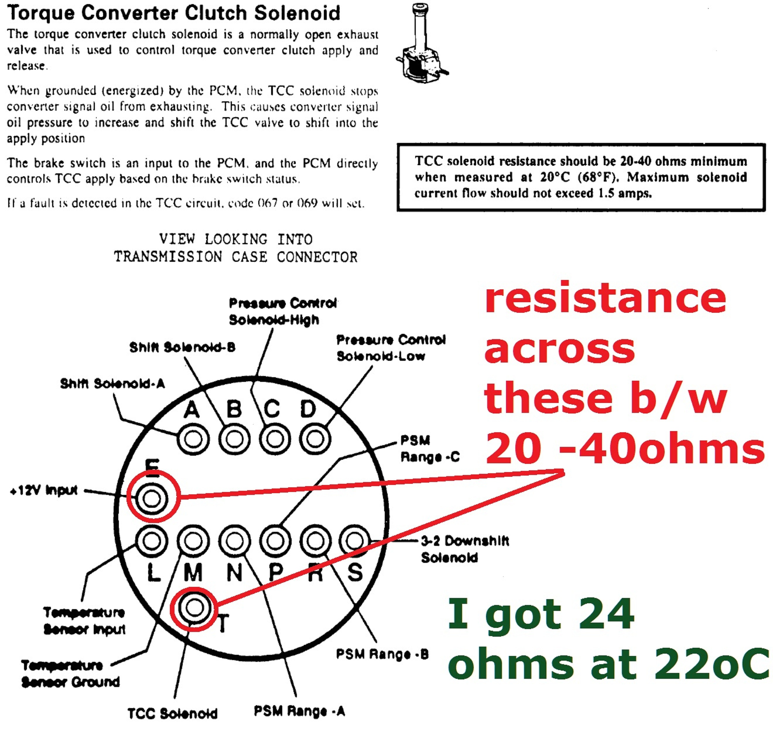 how do you test the TCC solenoid on the 4L60e wiring ...
