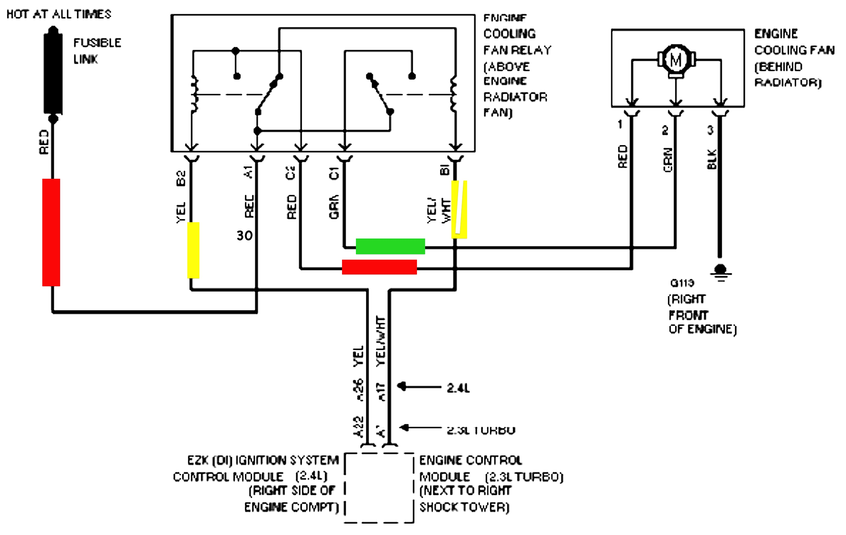 Ford Tauru Electric Fan Wiring Diagram