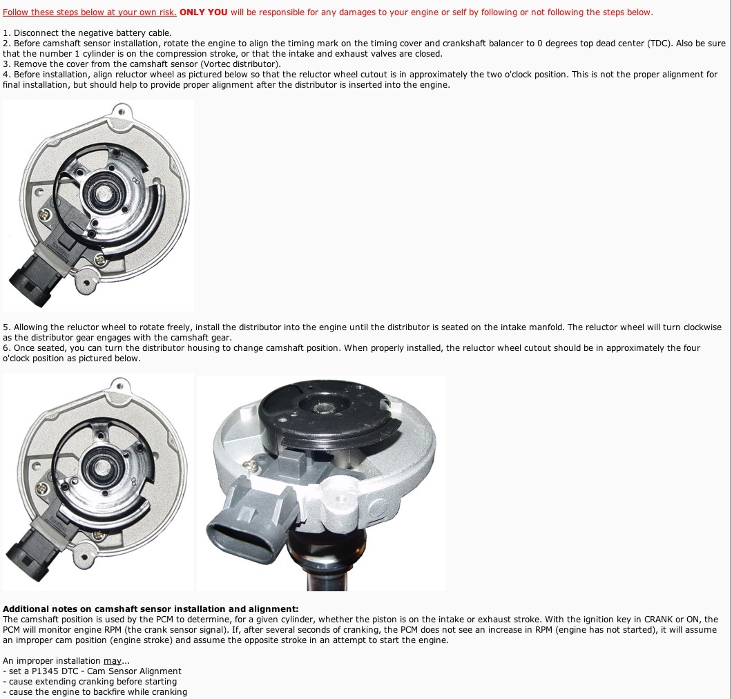 Chevy c6500 truck with 454 engine install distributor with cam click image for larger version name vortecdustributerinstallg views 621 size 2560 fandeluxe Images