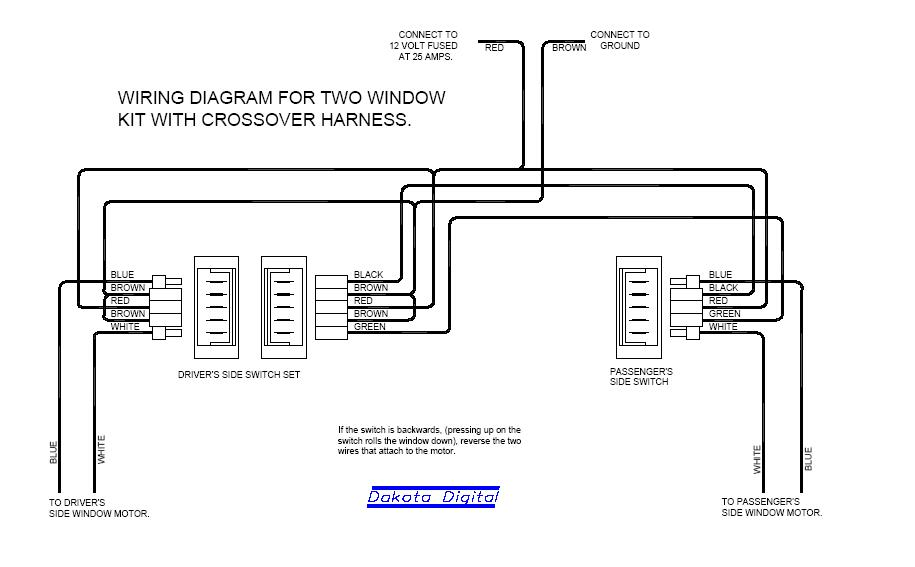 Schematic 5 Pin Power Window Switch Wiring Diagram from www.hotrodders.com