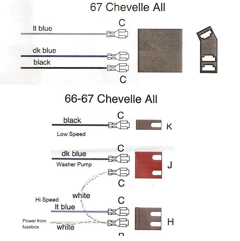 Windshield wiper wiring 1966 Chevelle - Hot Rod Forum ...