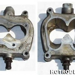 TBI unit to carb manifold adapter