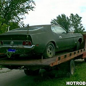 1972 Mustang Fastback rear Passenger side