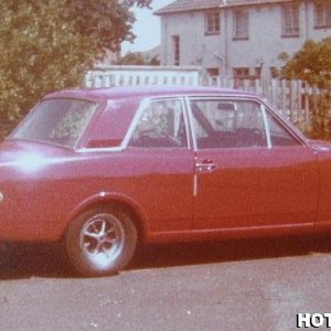 1967 Mk2 Lotus Cortina , around 1978