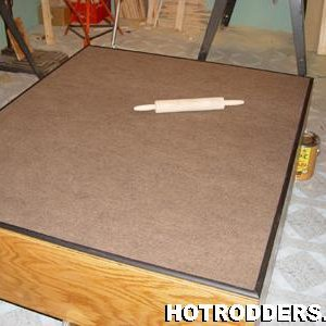 gluing down carpet