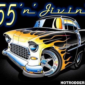 55 chevy toon